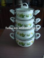 porcelain cooking enamel cookware with printing