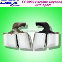 car exhaust muffler tips for P-orsche Cayenne 2011 sport exhaust pipe