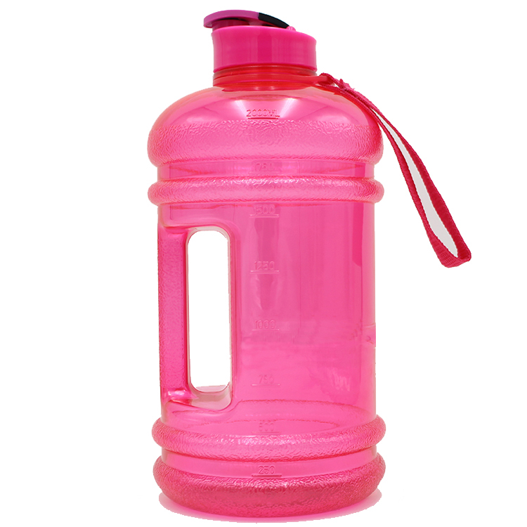 Large 2.2 Litre BPA-Free Sport Gym Half Gallon Training Workout Water Bottle Blue