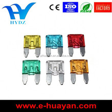 colorful zinc material car fuse/ auto fuse
