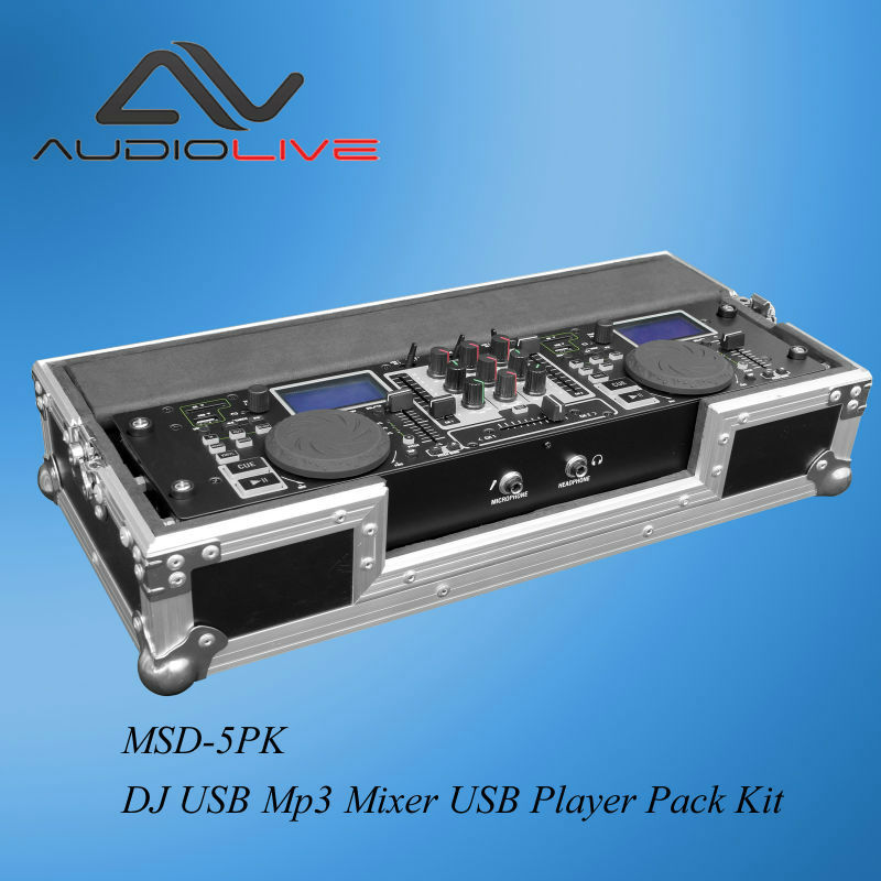 Portable USB Mp3 Audio DJ Mixer/ USB Player with freight case