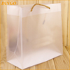Promotion portable clear pvc plastic bag with snap button