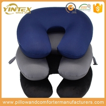 Best selling high quality cheap inflatable slow rebound support head travel pillow for airplane /car/office