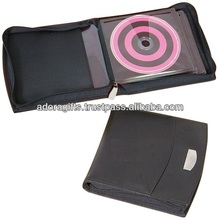 ADACD - 0016 custom leather dvd storage cases / promotional leather 5mm dvd case / fashionable cd dvd holder cases