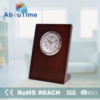 Unique mechanical wooden table clock for home decoration