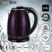 2.0L 1350W 1500w 1800W 220v 110v double wall stainless steel kettle
