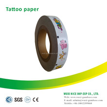 Tattoo paper for bubble gum sticker tattoo car