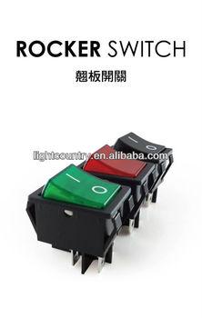 25a 250vac dpst illuminated rocker switch 22x30mm ul tuv