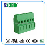 Electronic Component Terminal Block Shenzhen SCED Double Levels Brass Clamp Cage Euro Terminal Block