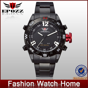 Epozz hot sale fashion man watch stainless steel case back watch for men