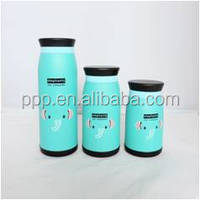multicapacity lovely/cartoon pictures double wall vacuum flask /mug water bottle