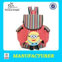 Made in china fashion design kids canvas owl backpack