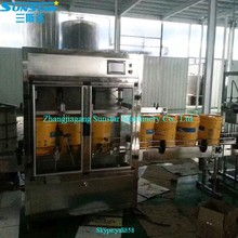 Automatic linear type oil spray paint can filling machine for olive cooking sunflower oil in bottle barrel or jar can