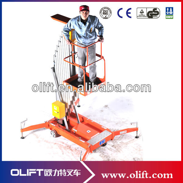 6.5m single person aluminum work platform