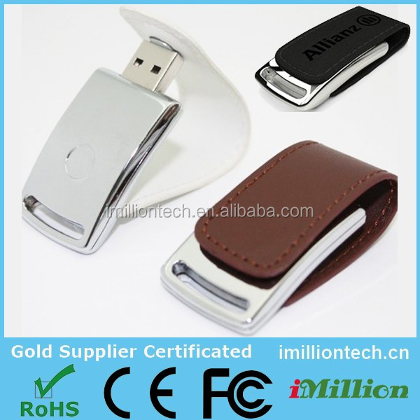 2016 leather pen drive,usb flash drive leather,white leather flash drive
