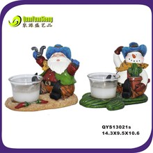 happy santa&snowman figurine resin christmas decoration