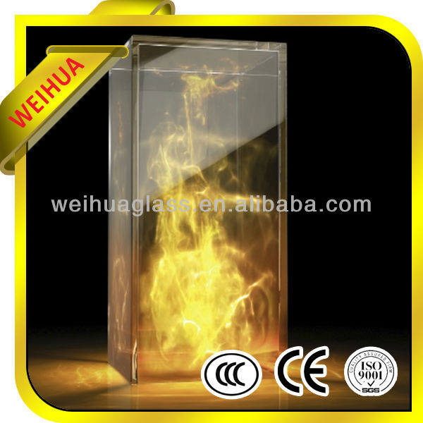 Shandong Weihua high quality best price 4mm 4.5mm 6mm ceramic glass for fireplace