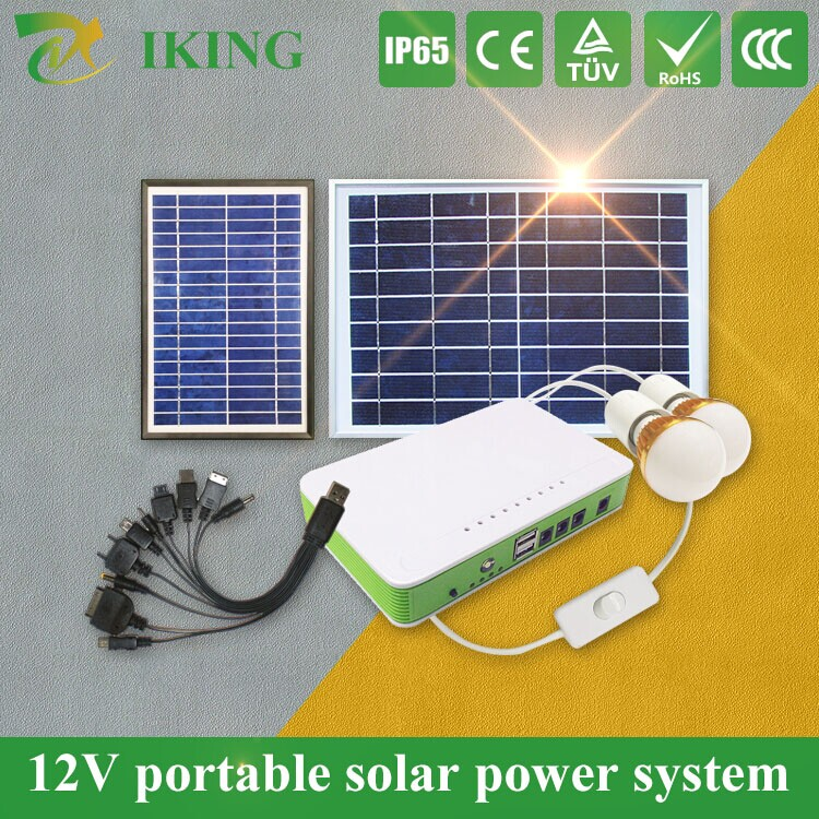 10w 5w 18v solar energy home appliances products for phone charging with led light