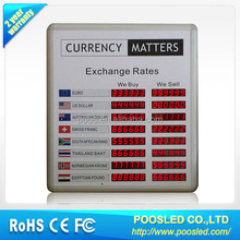 currency bank exchange rate led display/bank interest rate display board/folding led display