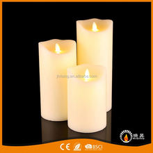 New product unique design fancy creamy white candles led flameless vogue wave candle
