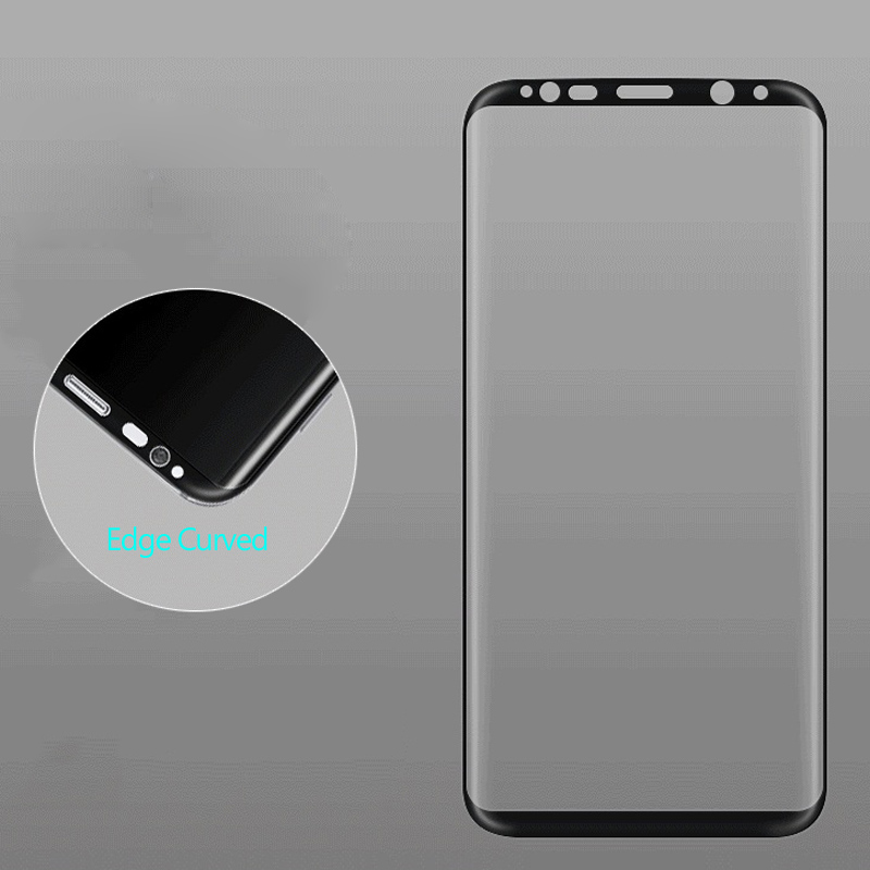 For Samsung galaxy S8 3D Curved Full Cover Tempered Glass Screen Protector for Samsung Galaxy S8 Plus