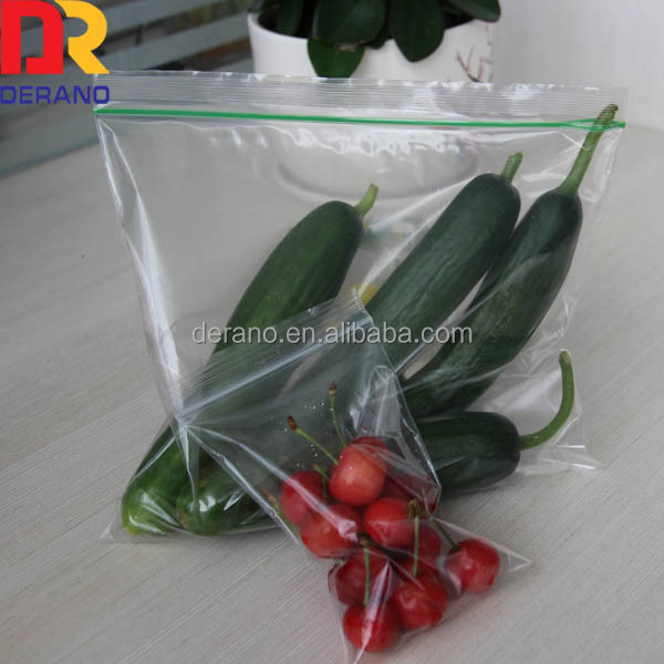 clear ziplock bag without color line plastic food printed bag