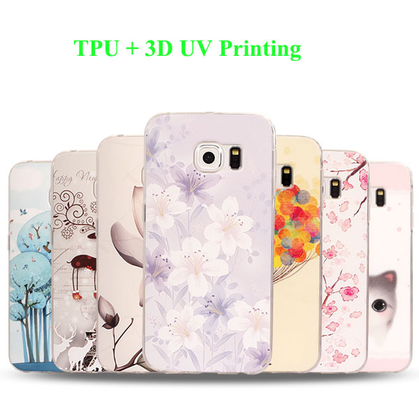 3d UV colorful custom print soft TPU mobile phone case for Samsung galaxy s6