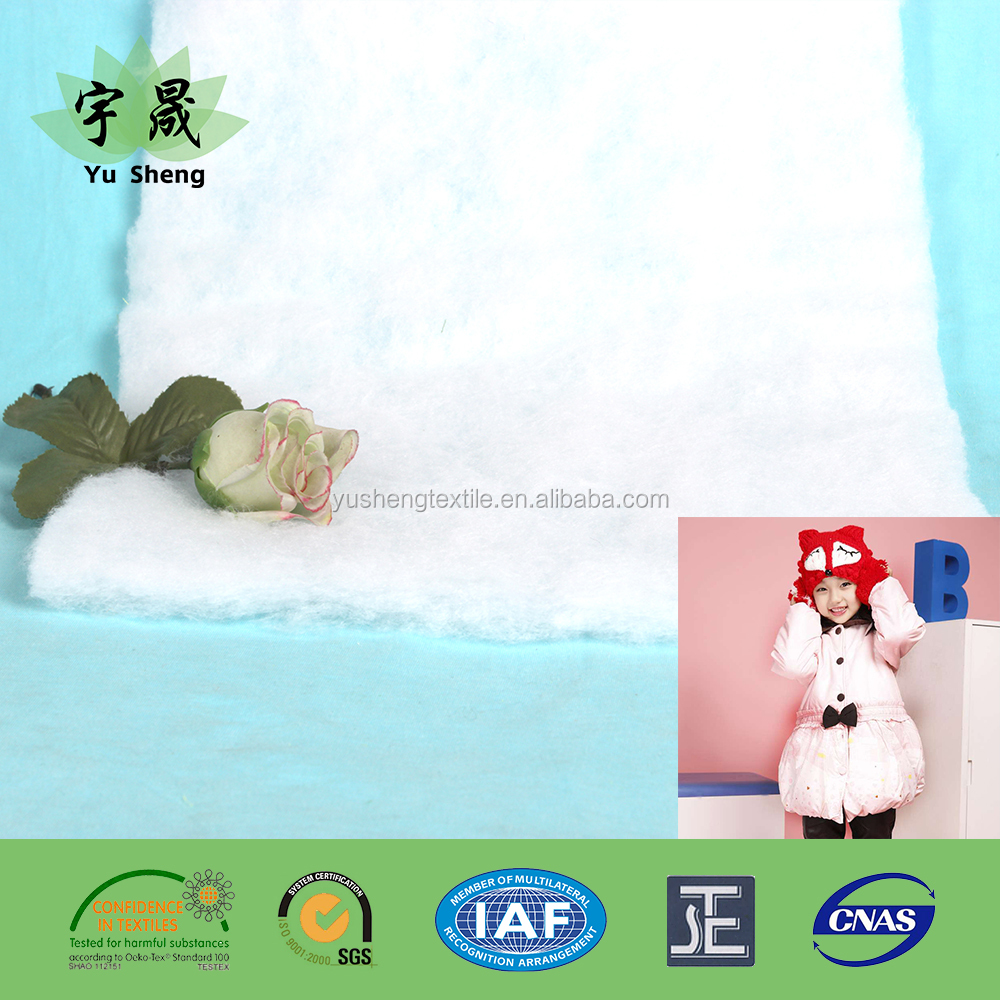 Warm eco-friendly imitation silk-like cotton polyester pads/wadding/batting