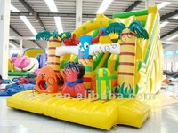 Big Inflatable Jungle Animal Slide children outdoor playground big slide for sale