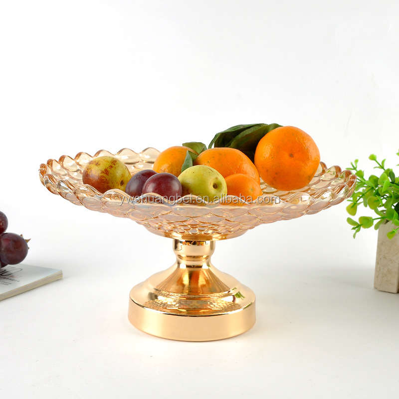 Manufacturers wholesale creative europen style crystal glass fruit plate and dishes