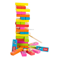 Wooden toys wooden jenga custom board game for familly