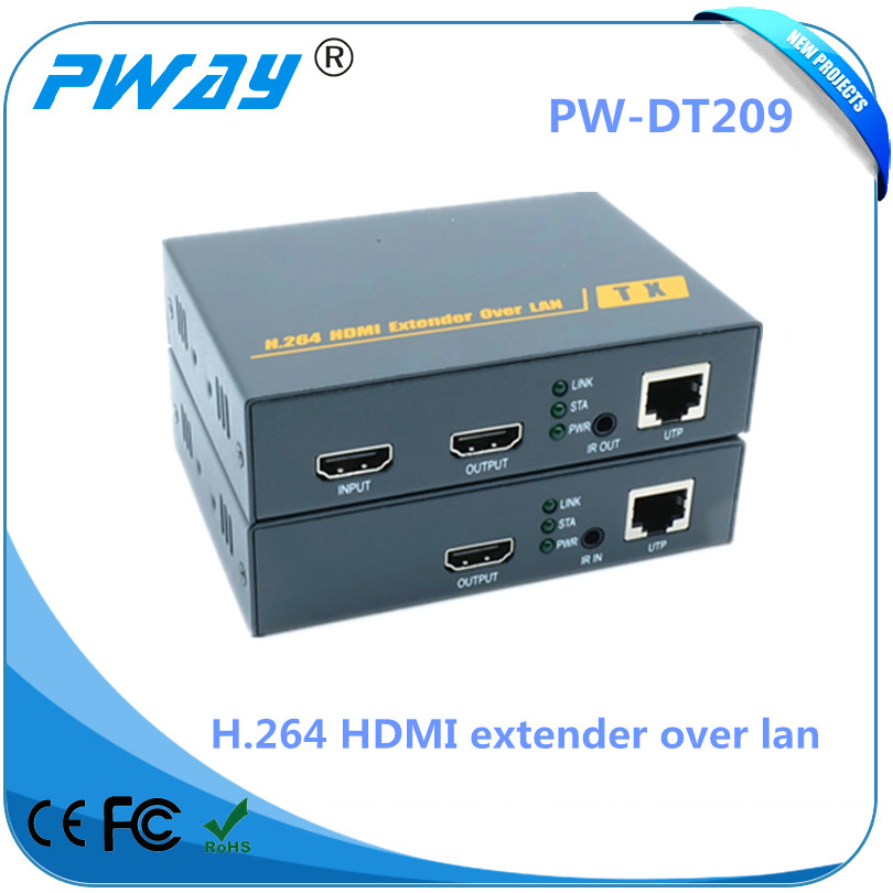 New PW-DT209 IR Control 200m (656FT) HDMI to IP Encoder H.264 Extender Over Cat5e/6 Up to 1080p