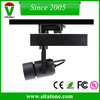 15w 25w 35w zoom len 10-70 degree beam angle gimbal linear led track lighting head for comercial lighting