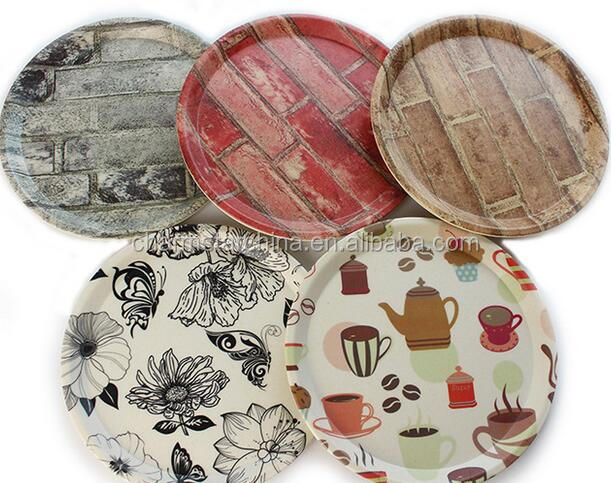 Factory Price Print Melamine Small Serving Tray For Wholesale