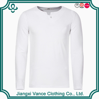 100 cotton white full hand long sleeve t shirts