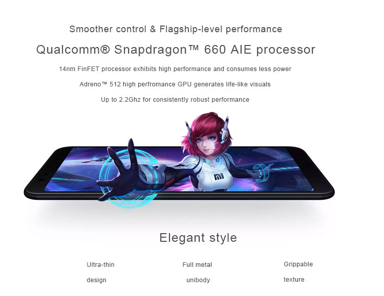 English Version Xiaomi Mi A2 4GB RAM 64GB ROM Octa Core Smartphone