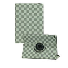 For iPad Mini 2 3 Grid Pattern 360 Rotation Leather Case