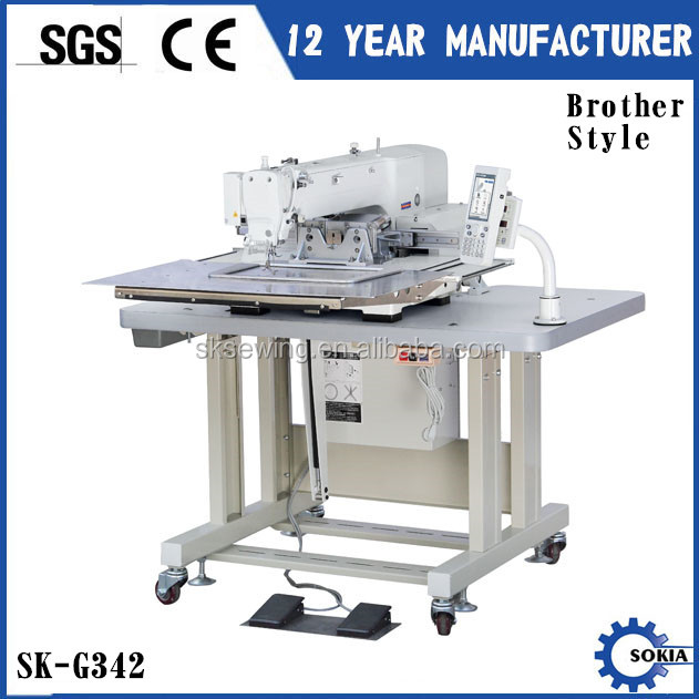 Brother computer programmable industrial pattern sewing machine for leather shoe