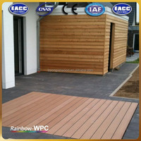 Color stability and Green deco material deck wpc solid floor
