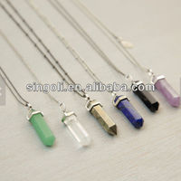 Crystal Point Long Necklace Long Chakra