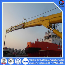 low price good quality china manufacture CCS ABS certificate marine deck crane
