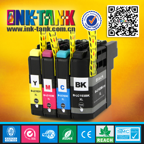 INK-TANK high quality compatible brother lc103 ink cartridge use in DCP-J152W,MFC-J245,MFC-J285DW,MFC-J450DW,MFC-J470DW,MFC-J475