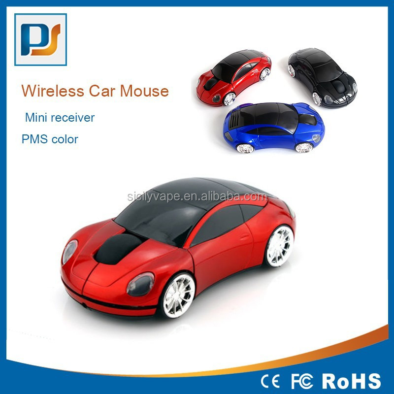 1600DPI 3D 2.4G Car Shape Wireless Optical Mouse Mice For Laptop PC USB Receiver