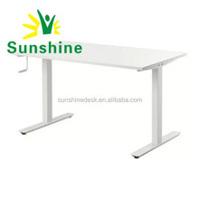 "48""/60'' Manual Crank Adjustable Height Standing Desk"