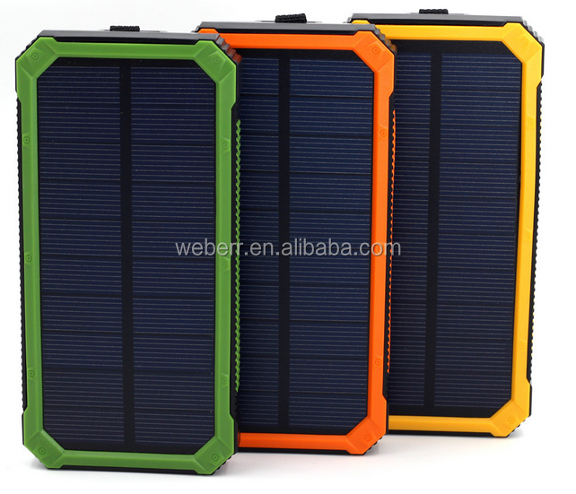Mobile Phones Battery Power Bank 15000Mah Sunpower Waterproof Solar Charger For Mobile