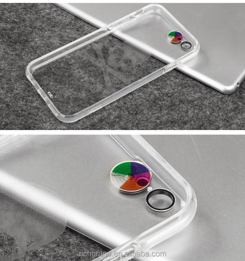 LED Flash Call Reminder Case for iPhone 6 6plus Transparent Cover Case