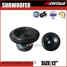 "12"" inch portable high power car speaker subwoofer"