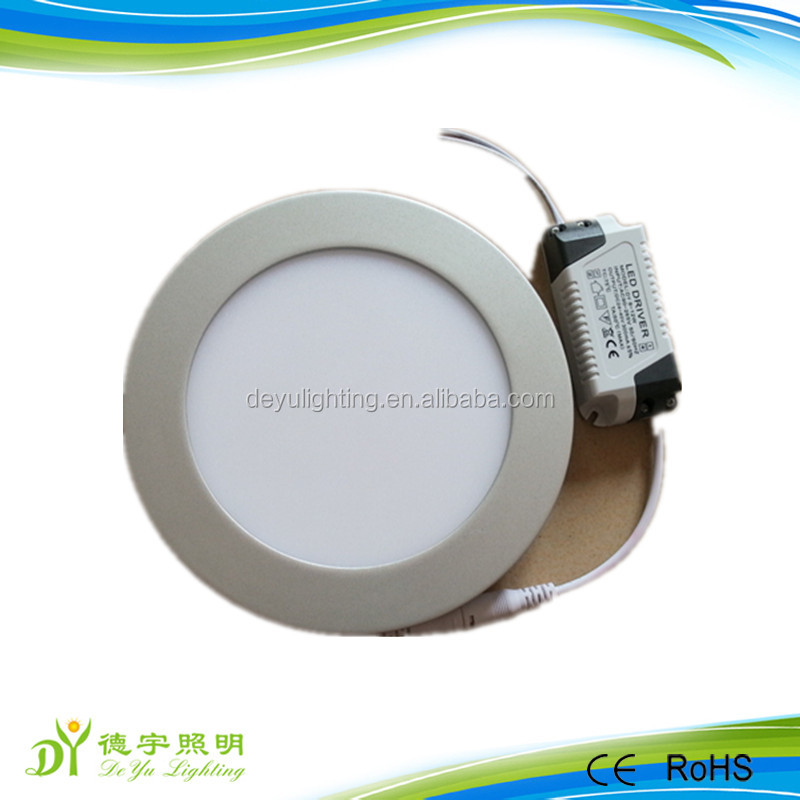 Hot sale factory price samll power silver color frame flat LED panel light and LED down lamp