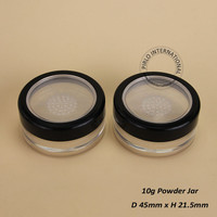 Make Up Tools 10g Plastic Cosmetic Jar Empty Loose Powder jars With Sifter