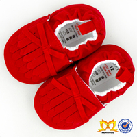 Cute Baby Red Prewalk Shoes Toddler Crib Shoes Newborn Baby Shoes